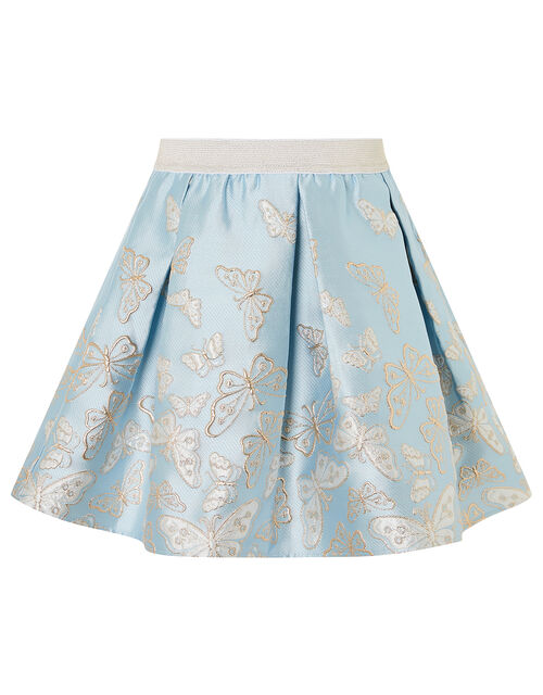 Cascading Butterfly Skirt , Blue (PALE BLUE), large