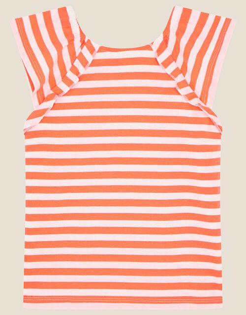 Sequin Watermelon Stripe Top, Orange (ORANGE), large