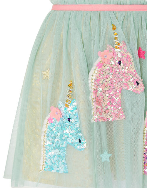 Unicorn Disco Dress, Blue (AQUA), large