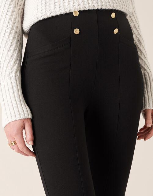 Military Button Treggings, Black (BLACK), large