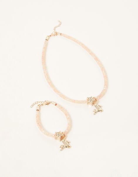 Cosmic Unicorn Necklace and Bracelet Set, , large