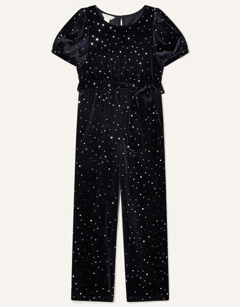 Velvet Spot Jumpsuit Black, Black (BLACK), large
