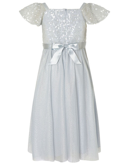 Truth Sequin Flutter Sleeve Dress, Blue (PALE BLUE), large