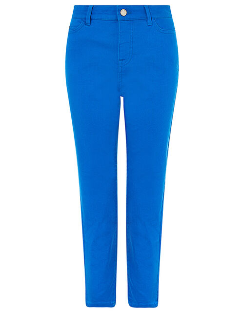 Safaia Cropped Jeans with Organic Cotton, Blue (COBALT), large
