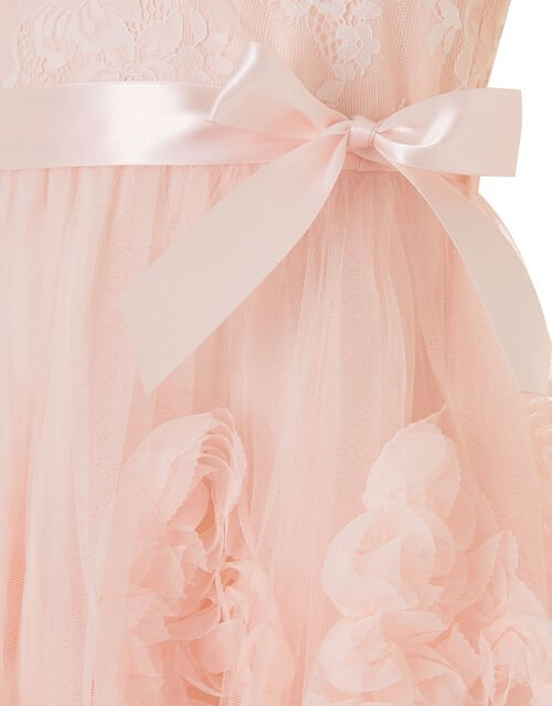 Rosette Lace Dress, Pink (PALE PINK), large