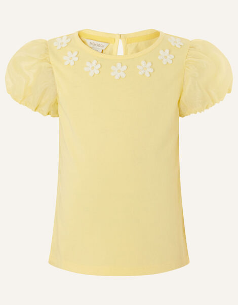 Daisy Organza Top  Yellow, Yellow (YELLOW), large