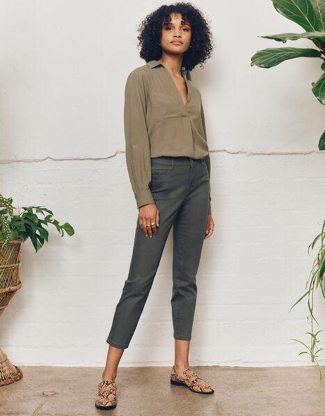 Safaia Ankle Grazer Jeans Green, Green (KHAKI), large