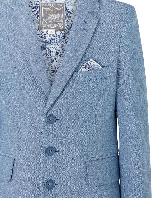 Nathan Chambray Blazer, Blue (BLUE), large