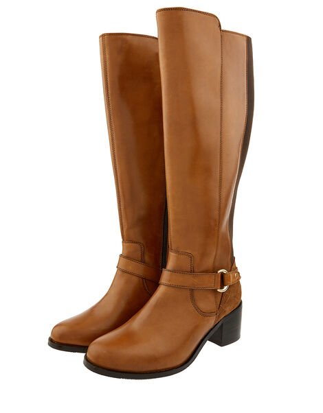 Edie Long Leather Boots Brown, Brown (MOCHA), large