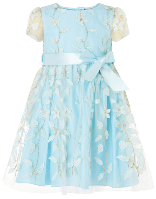 Baby Floral 3D Dress, Green (MINT), large