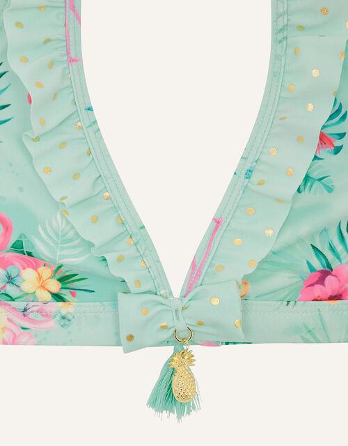 Flamingo and Foil Spot Bikini Set, Blue (AQUA), large