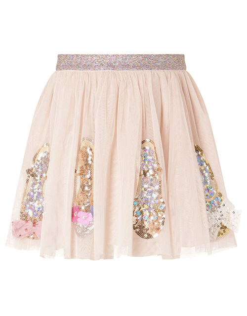Sparkle Shoe Disco Skirt, Nude (NUDE), large