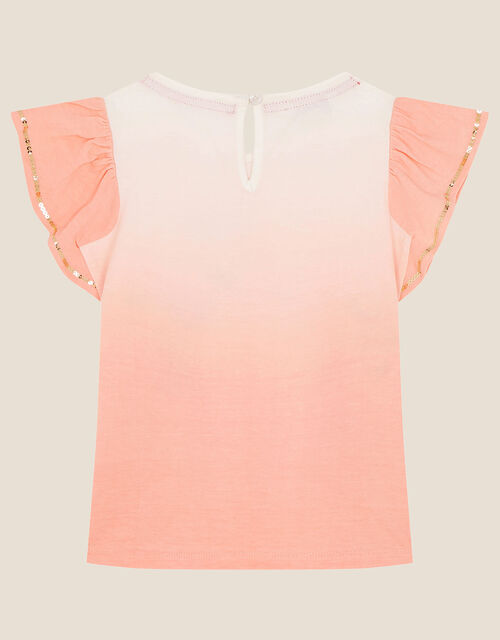 Sequin Giraffe Top, Orange (CORAL), large