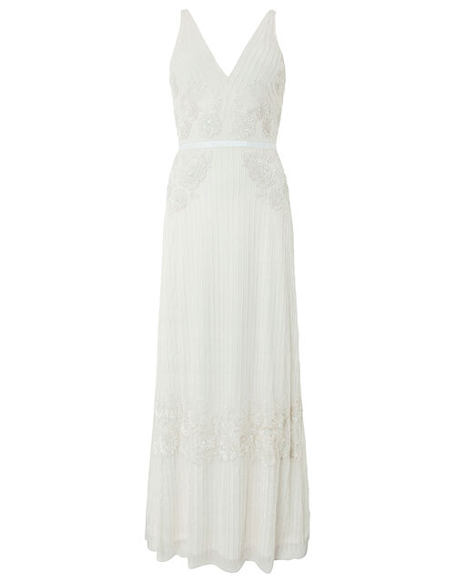 Margaret Embellished Maxi Wedding Dress, Ivory (IVORY), large