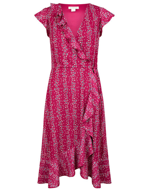Fergie Floral Wrap Jersey Midi Dress, Pink (PINK), large