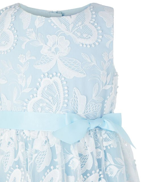 Sophia Embroidered Butterfly Dress, Blue (BLUE), large