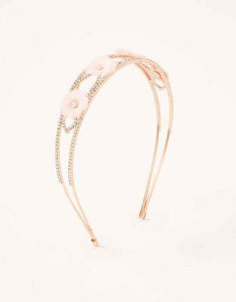 Flower and Diamante Headband, , large