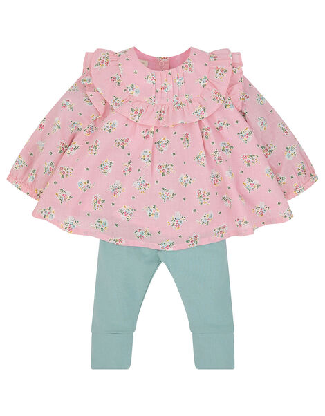 Baby Ditsy Woven Set  Pink, Pink (PINK), large