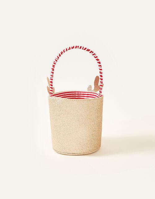 Festive Reindeer Basket, , large