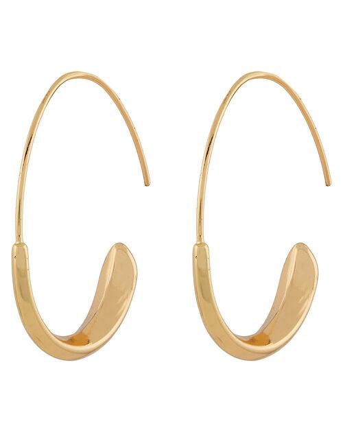 Wide Panel Hoop Earrings, , large