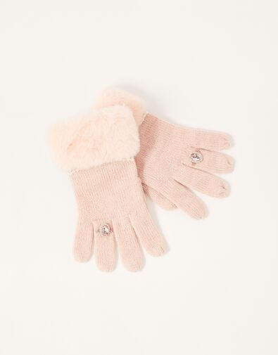 Asha Gem Ring Gloves Pink, Pink (PINK), large