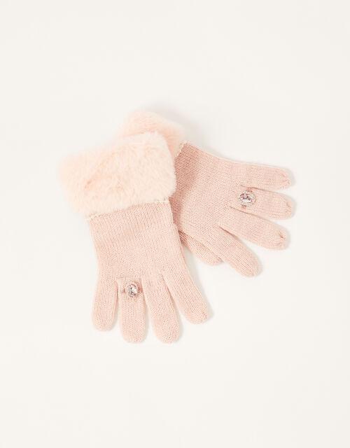 Asha Gem Ring Gloves, Pink (PINK), large