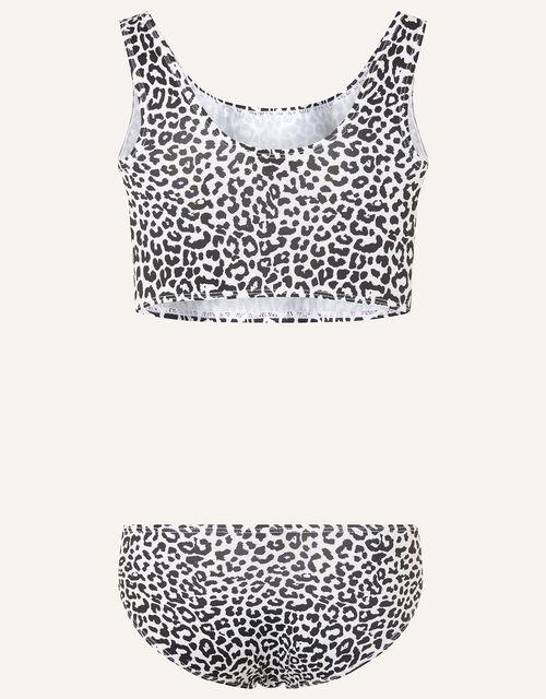 Cheetah Bikini Set, Black (BLACK), large