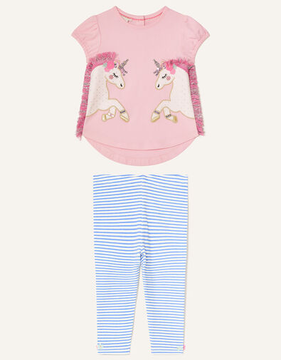 Baby Unicorn Top and Leggings Set Pink, Pink (PALE PINK), large