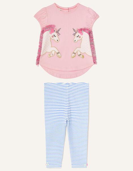 Baby Unicorn Top and Leggings Set Pink, Pink (PALE PINK), large