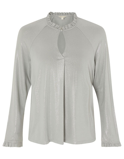LOUNGE Gayle Shimmer Blouse, Grey (GREY), large