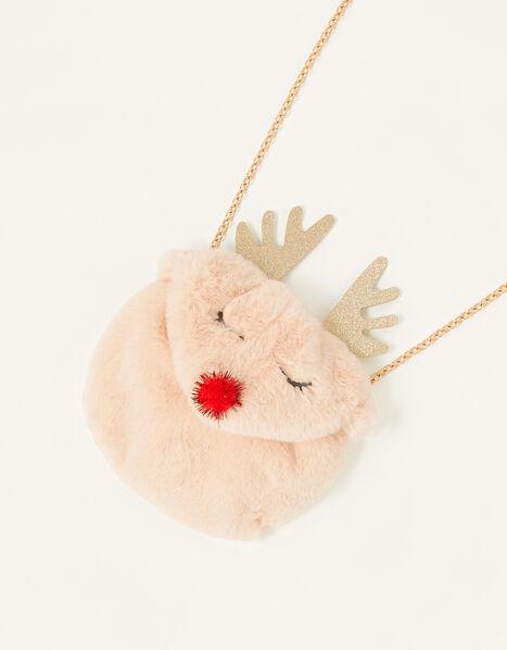 Reindeer Fluffy Bag, , large