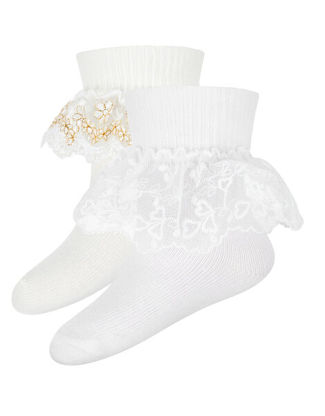 Baby Lace Cuff Sock Set Multi, Multi (MULTI), large