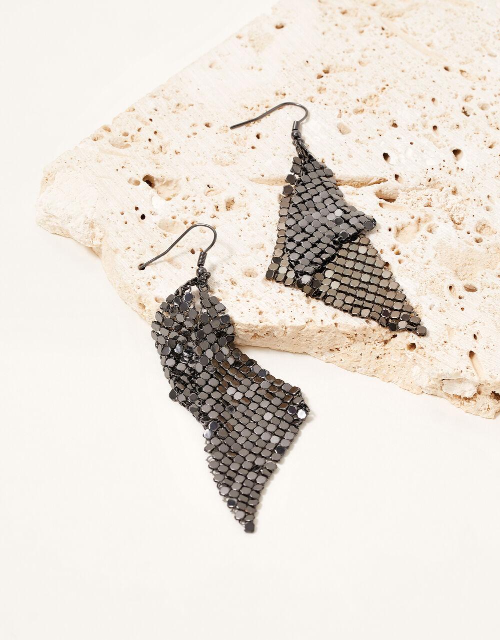 Party Diamante Geometric Earrings, , large