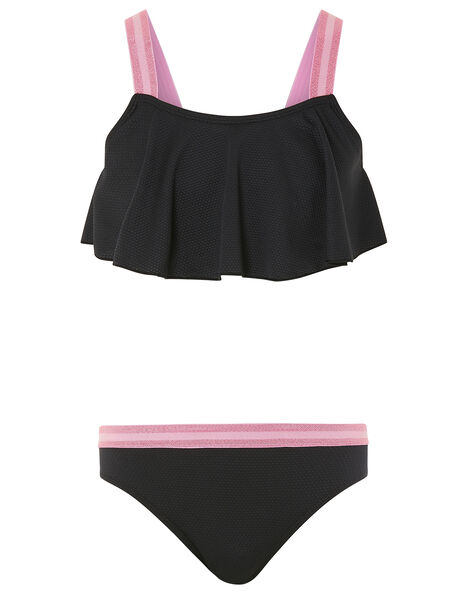 Storm Elastic Strap Bikini Set Black, Black (BLACK), large