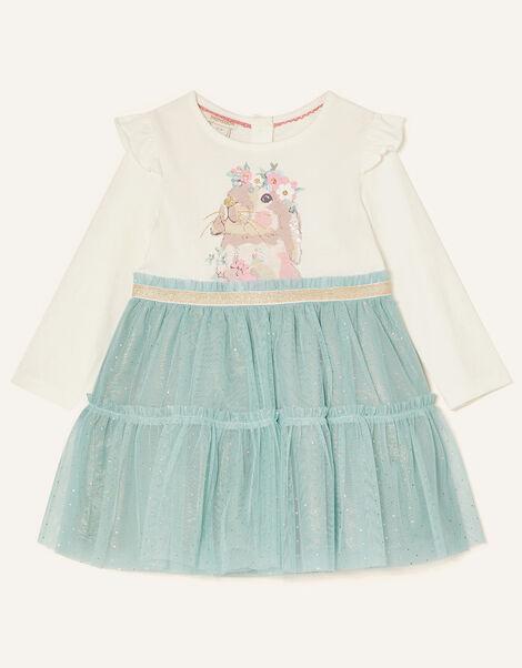 Baby Bunny Disco Dress Blue, Blue (AQUA), large