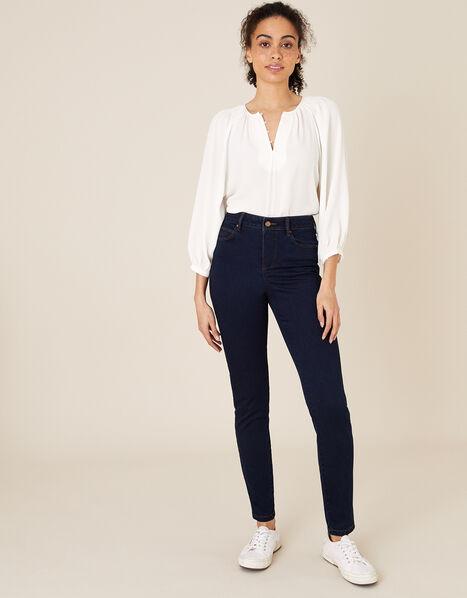 Nadine Short-Length Skinny Jeans Blue, Blue (INDIGO), large
