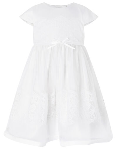 Baby Alovette Christening Gown Ivory, Ivory (IVORY), large