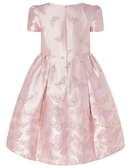 Cascading Butterfly Jacquard Dress, Pink (PINK), large