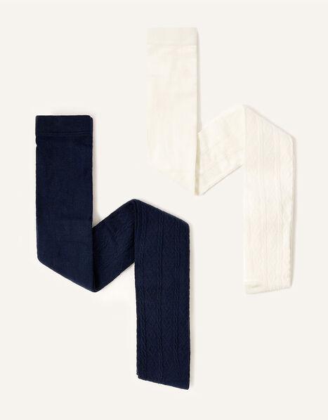 Cable Knit Tights Multipack Multi, Multi (MULTI), large