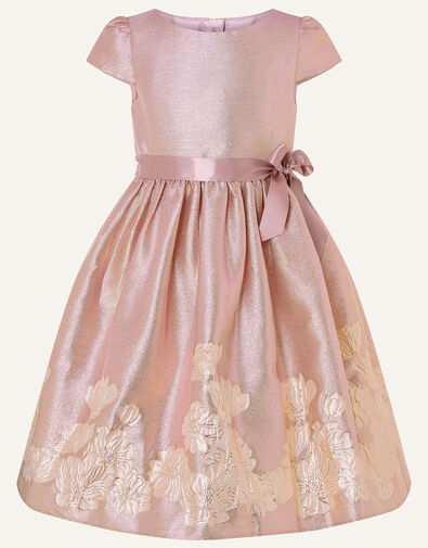 Ombre Border Jacquard Dress Pink, Pink (PINK), large