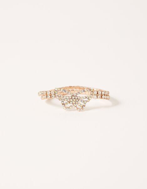 Diamante Butterfly Stretch Bracelet, , large