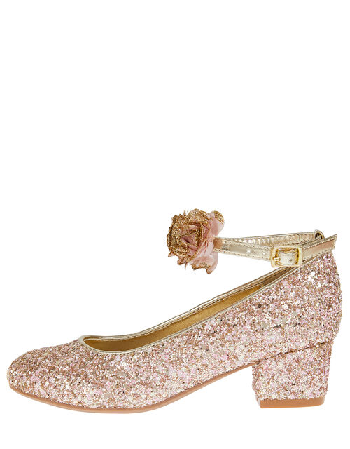 Cancan Glitter Heeled Shoes, Pink (PINK), large