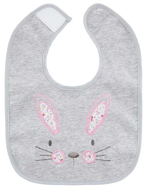Baby Bunny Hat and Bib Set, Grey (GREY), large