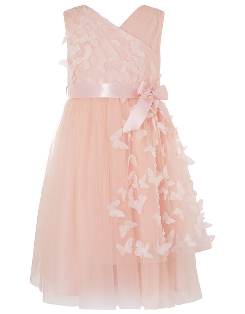 3D Butterfly Wrap Dress, Pink (PINK), large