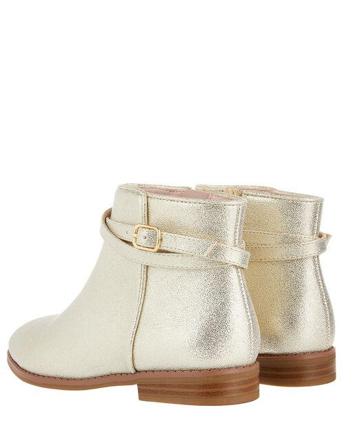 Nadia Shimmer Ankle Boots, Gold (GOLD), large
