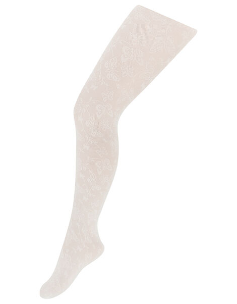 Lacey Butterfly Tights Ivory, Ivory (IVORY), large