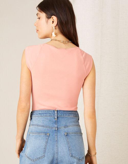 Clara Square Neck Vest, Pink (BLUSH), large