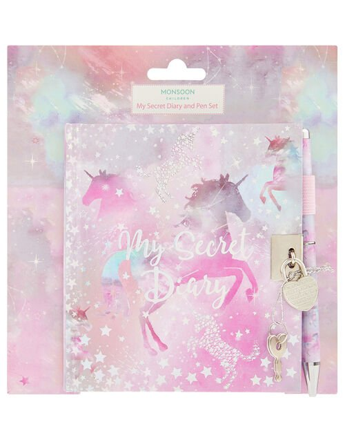 Stardust Unicorn Diary and Pen Set, , large