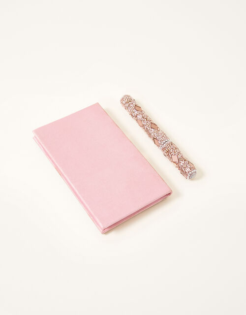 Beaded Notebook and Pen Set, , large