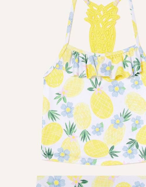 Pineapple Crochet Tankini Set, Yellow (YELLOW), large